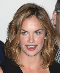 Ruth Wilson Medium Wavy Casual    Hairstyle   - Dark Blonde Hair Color