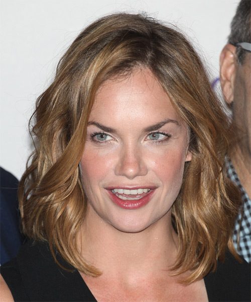 Ruth Wilson Medium Wavy Casual   Hairstyle   - Dark Blonde