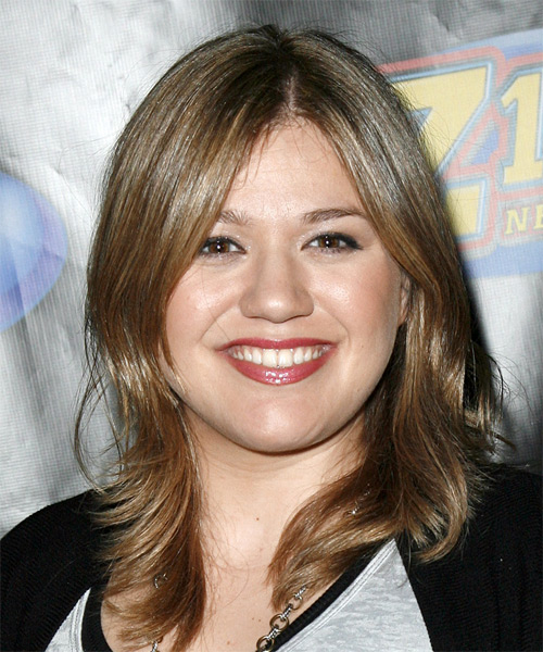 Kelly Clarkson Long Straight Casual   Hairstyle