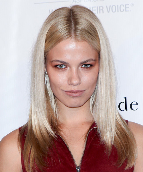 Hailey Clauson Long Straight Casual   Hairstyle   - Light Blonde