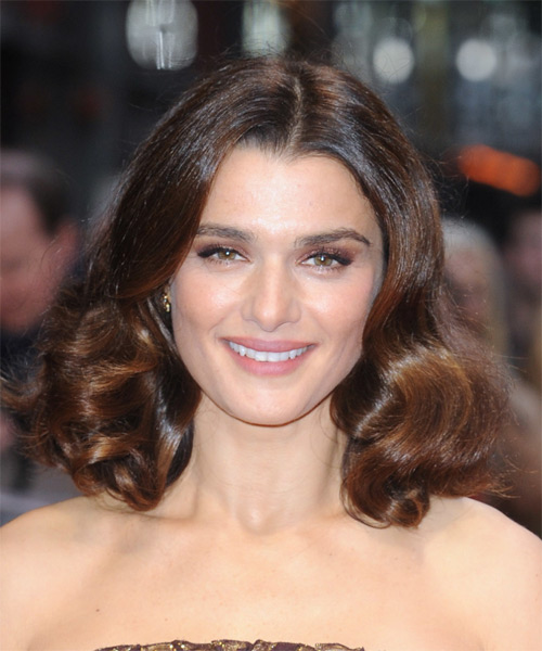 Rachel Weisz Medium Wavy Formal    Hairstyle   - Dark Brunette Hair Color