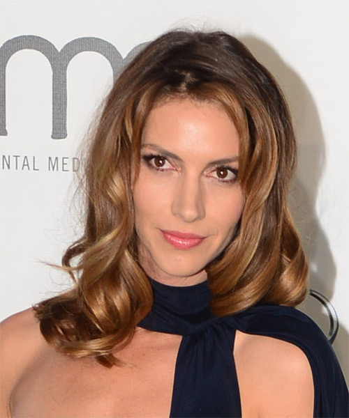 Dawn Olivieri Long Wavy Formal    Hairstyle   -  Brunette Hair Color