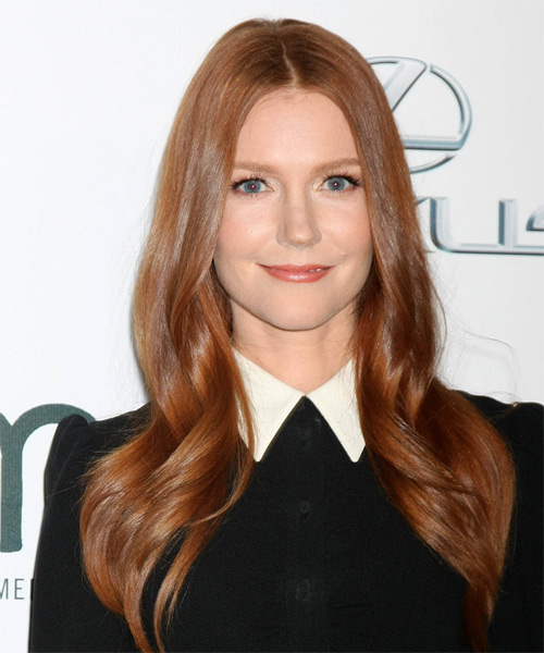 Darby Stanchfield Long Straight Formal   Hairstyle   - Medium Red (Auburn)