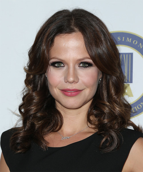 Tammin Sursok Long Curly Formal   Hairstyle   - Dark Brunette