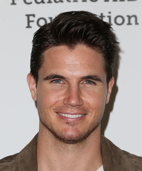 Robbie Amell Short Straight Casual    Hairstyle   - Dark Mocha Brunette Hair Color