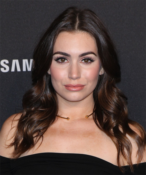 Sophie Simmons Long Wavy Casual   Hairstyle   - Dark Brunette (Mocha)