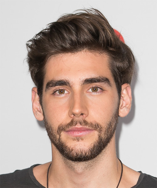 Alvaro Soler Short Straight Casual    Hairstyle   - Medium Brunette Hair Color