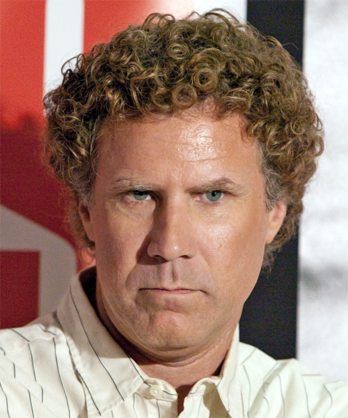 Will Ferrell Short Curly Casual   Hairstyle