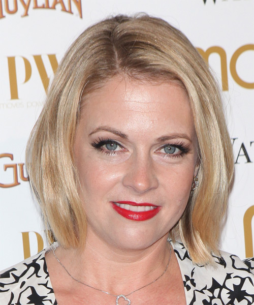 Melissa Joan Hart Medium Straight Casual   Hairstyle   - Medium Blonde