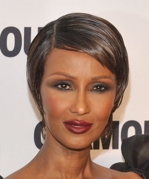 Iman Short Straight Formal   Hairstyle   - Medium Brunette (Chocolate)