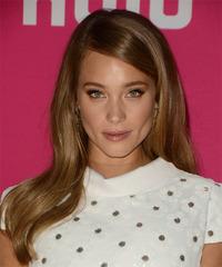 Hannah Davis Long Straight Formal    Hairstyle   - Light Brunette Hair Color