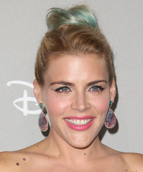 Busy Philipps  Long Straight Casual  Updo Hairstyle   - Medium Blonde