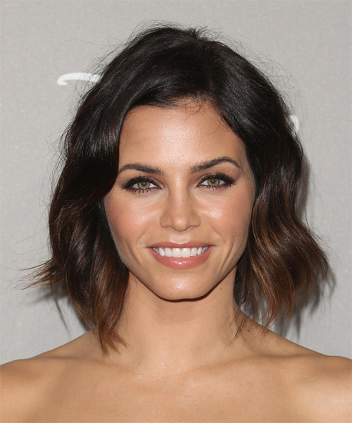 Jenna Dewan Medium Straight Casual    Hairstyle   - Dark Brunette Hair Color