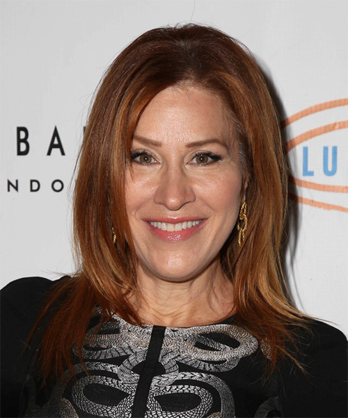 Lisa Ann Walter Long Straight Casual   Hairstyle   - Medium Red (Copper)