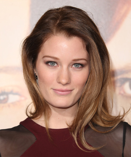 Ashley Hinshaw Long Straight Casual   Hairstyle   - Medium Brunette