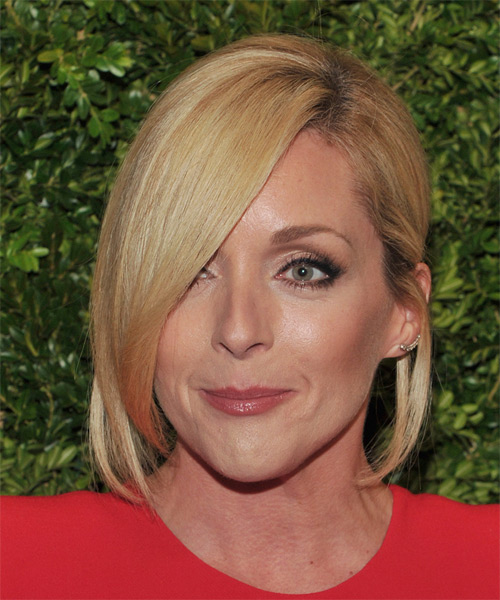 Jane Krakowski Medium Straight Formal   Hairstyle with Side Swept Bangs  - Medium Blonde (Honey)