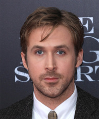 Ryan Gosling Short Straight Casual    Hairstyle   -  Brunette Hair Color