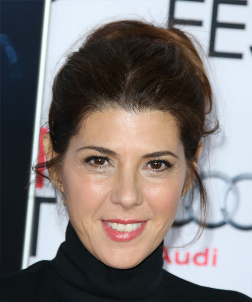 Marisa Tomei Long Straight Casual  Updo Hairstyle   - Dark Brunette