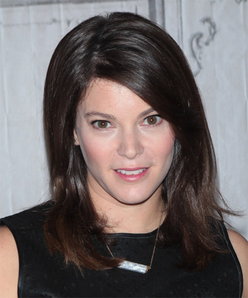 Gail Simmons  Medium Straight Casual   Hairstyle   - Dark Brunette