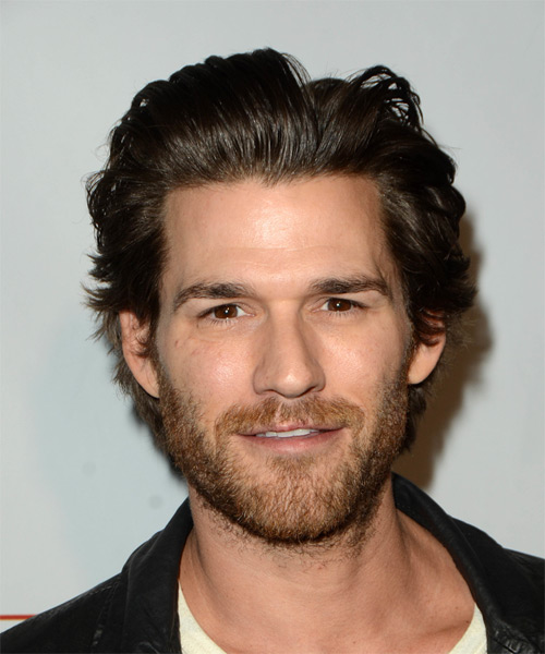 Johnny Whitworth Short Straight Casual   Hairstyle   - Dark Brunette