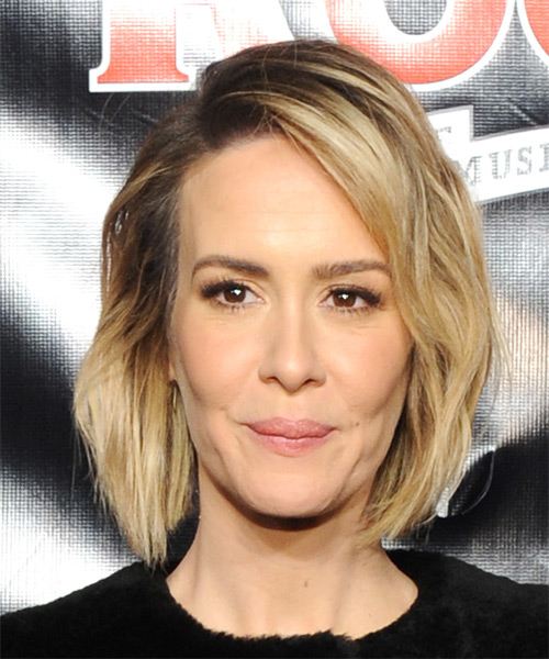 Sarah Paulson Medium Straight     Hairstyle