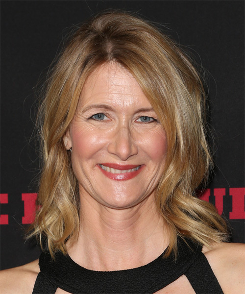 Laura Dern Medium Wavy Golden Blonde Hairstyle