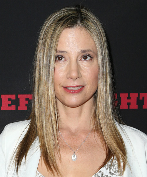 Mira Sorvino Long Straight Casual    Hairstyle   - Medium Blonde Hair Color