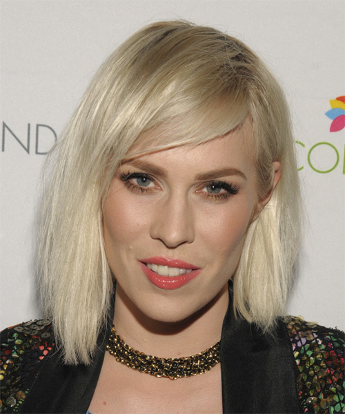 Natasha Bedingfield Medium Straight Casual Bob  Hairstyle   - Light Blonde (Champagne)