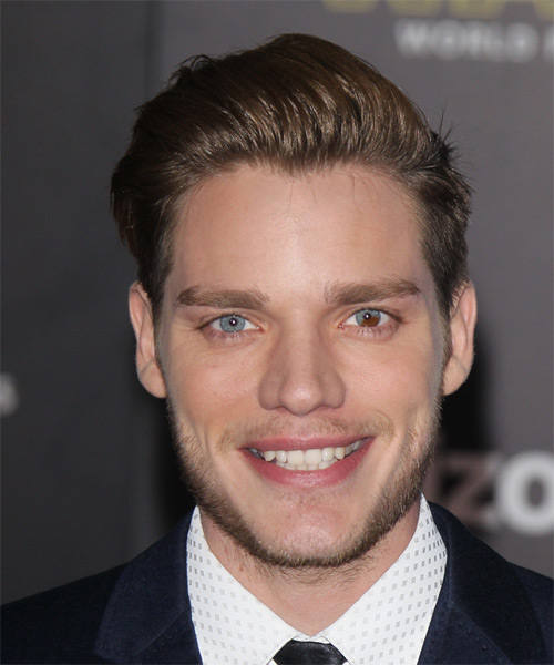 Dominic Sherwood Short Straight Formal   Hairstyle   - Medium Brunette