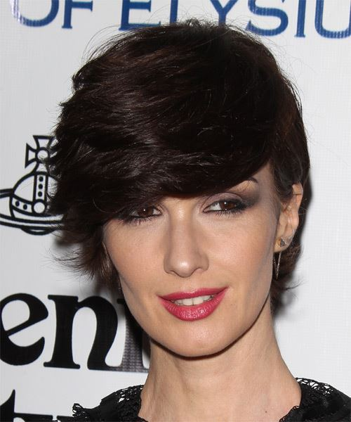 Paz Vega Short Straight Formal   Hairstyle   - Dark Brunette (Mocha)
