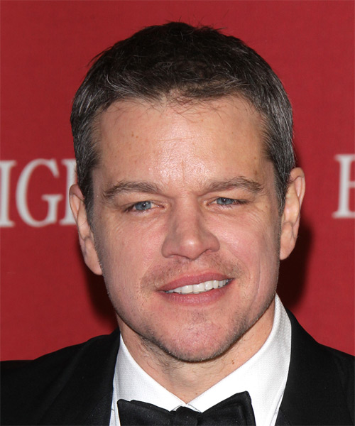 Matt Damon Short Straight Casual   Hairstyle