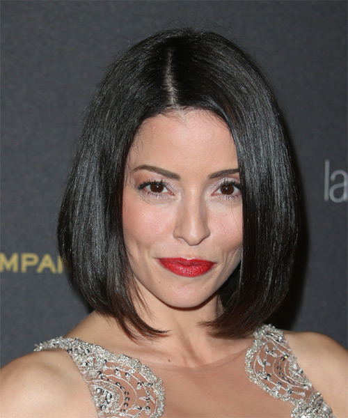 Emmanuelle Vaugier Medium Straight Formal Bob  Hairstyle   - Black