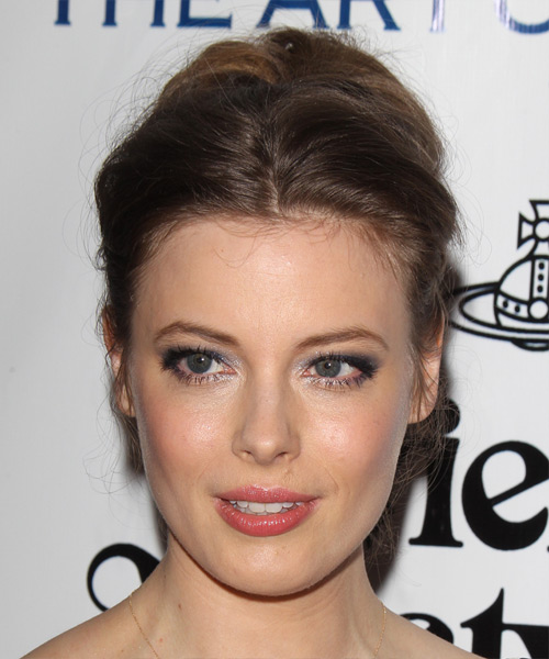 Gillian Jacobs Long Straight Casual Wedding Updo Hairstyle   - Medium Brunette (Chestnut)