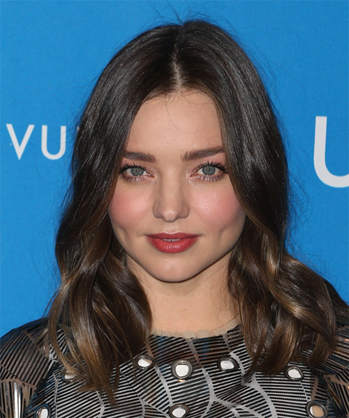 Miranda Kerr Medium Wavy Casual   Hairstyle