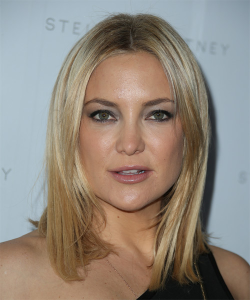 Kate Hudson Medium Straight Casual   Hairstyle