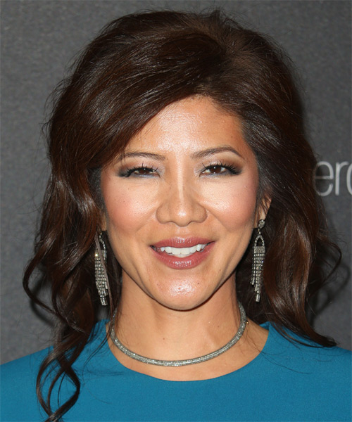 Julie Chen Medium Wavy Formal   Hairstyle