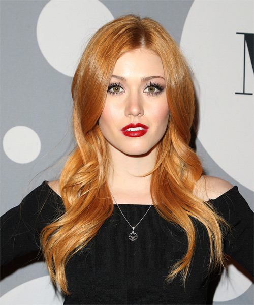 Katherine McNamara Long Wavy Formal   Hairstyle