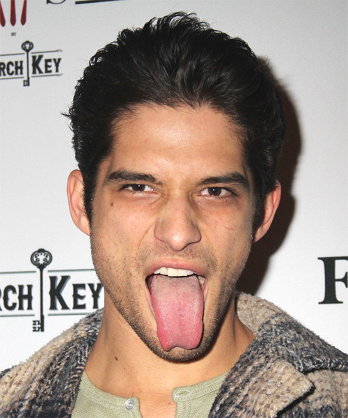 Tyler Posey Short Straight Black Hairstyle