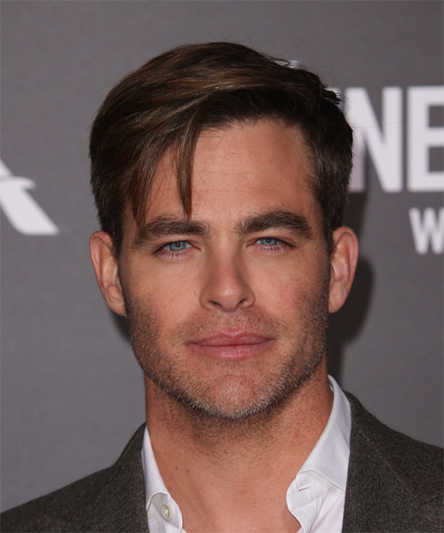 Chris Pine Short Straight    Brunette   Hairstyle