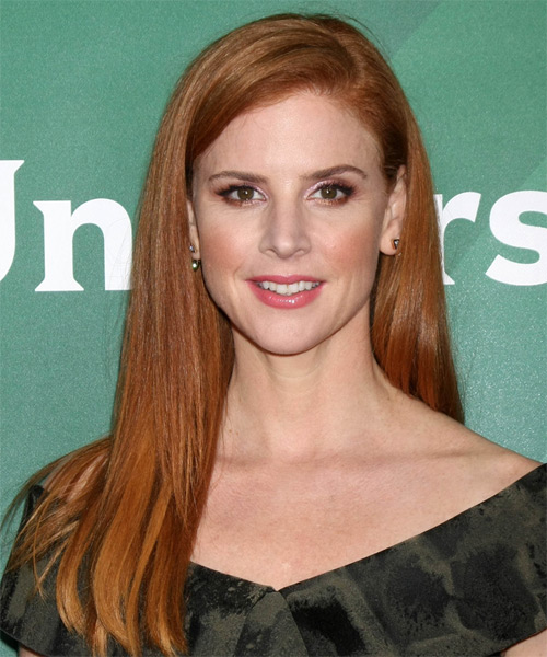 Sarah Rafferty Long Straight Casual    Hairstyle