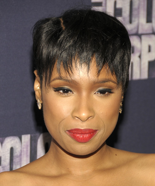 Jennifer Hudson Short Straight Casual Pixie  Hairstyle