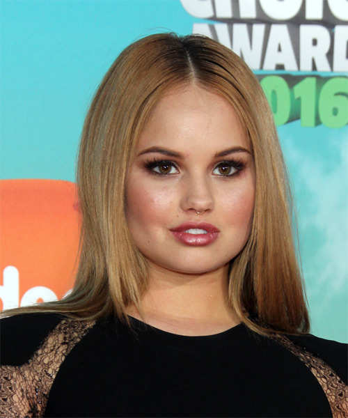 Debby Ryan Long Straight Formal   Hairstyle   - Dark Blonde (Strawberry)
