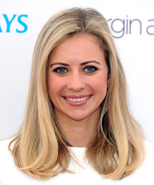 Holly Branson Long Straight Formal Bob  Hairstyle   - Medium Blonde