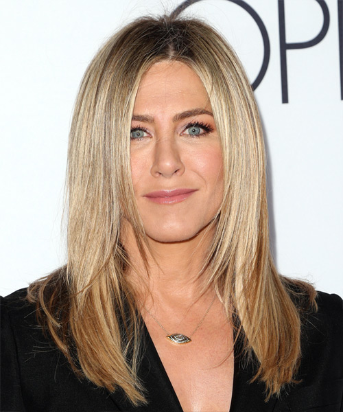 Jennifer Aniston Long Straight Formal   Hairstyle   - Medium Blonde (Ash)