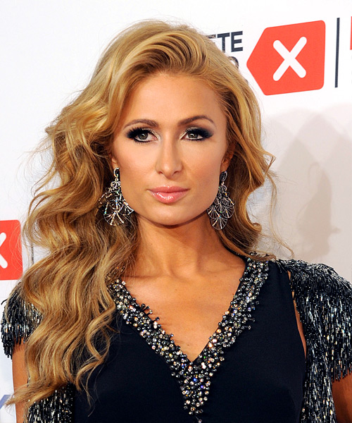 Paris Hilton Long Wavy Formal   Hairstyle   - Medium Blonde (Honey)