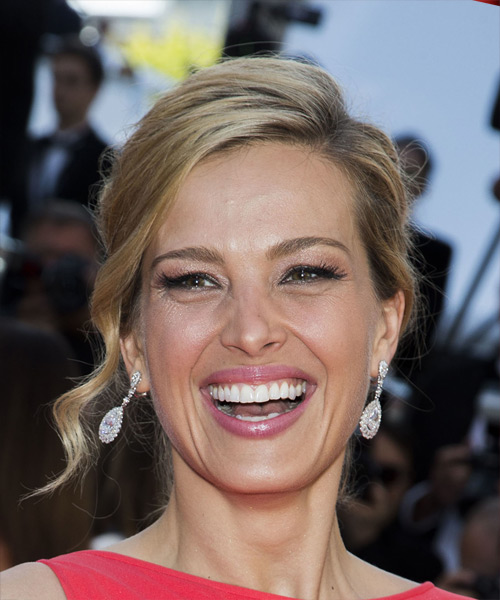 Petra Nemcova Long Straight Formal   Updo Hairstyle   - Medium Blonde Hair Color