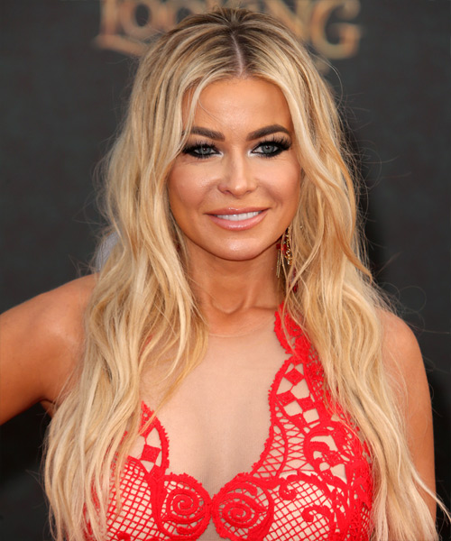 Carmen Electra Long Wavy Casual   Hairstyle   - Light Blonde (Platinum)