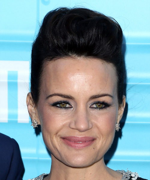 Carla Gugino Short Straight Casual Wedding Updo Hairstyle   - Black