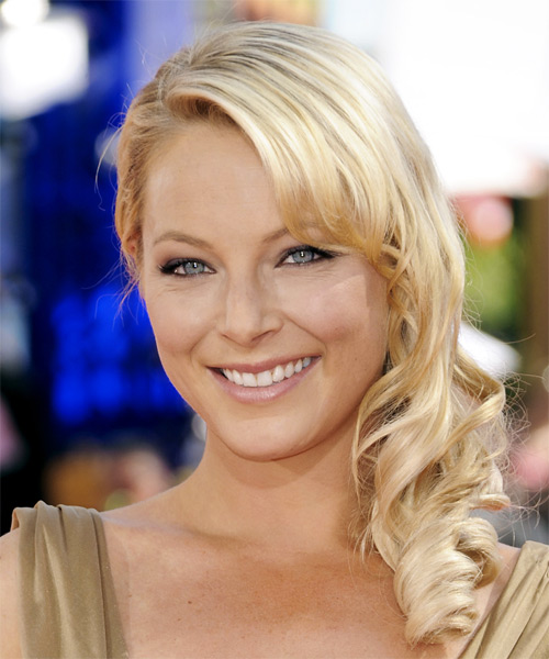 Anastacia Griffith Side Swept Hairstyle