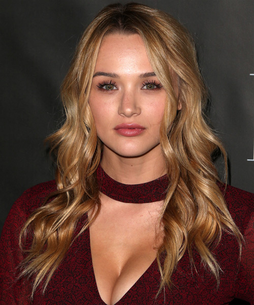 Hunter King Long Wavy Formal Hairstyle Dark Blonde